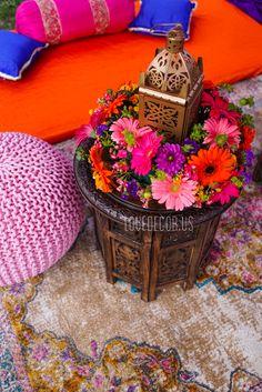 A Boston Massachusetts Based India Wedding Decor Company Indian Theme, Moroccan Theme, Moroccan Wedding, Moroccan Colors, Moroccan Party, Lantern Centerpiece Wedding, Diy Wedding Decorations, Flower Decorations, Wedding Centerpieces