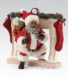 Holiday Creations Motion Animated Santa Amp Mrs Claus Black