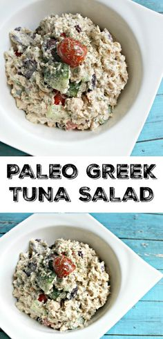 Paleo Greek Tuna Salad - this is great to make in bulk for lunches throughout the week or just as a quick and healthy dinner!