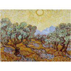 Trademark Fine Art Olive Trees 1889 Canvas Art by Vincent van Gogh, Size: 24 x 32, Multicolor