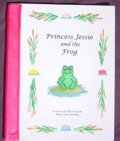 Personalized / Photo Princess Storybook- The Princess and the Frog by funstorybooks, $25.00