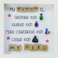 My Daddy is my Hero! Picture frame with Lego minifigures