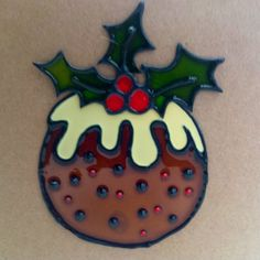 Handmade Christmas pudding card by LoveheArtcards on Etsy, $4.50