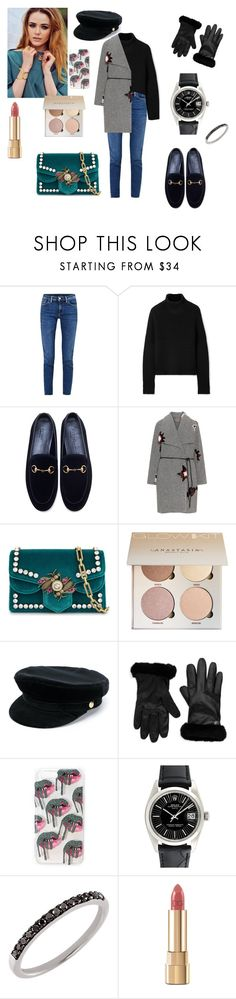 """Untitled #373"" by gloriatovizi on Polyvore featuring Acne Studios, Burberry, Gucci, Open End, Manokhi, UGG, Rolex and Dolce&Gabbana"