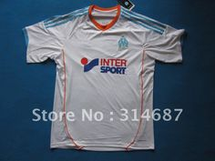 wholesale 12/13 TOP Thailand quality Marseille home white soccer jerseys,Soccer tops,embroidered logo,Dry-Fit on AliExpress.com. $95.00