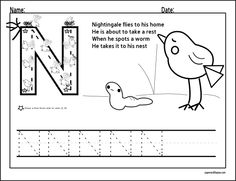 Letter N Trace • The Paper and the Pea