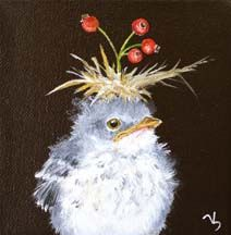 The French Tangerine: ~ vicki sawyer baby bird with hat