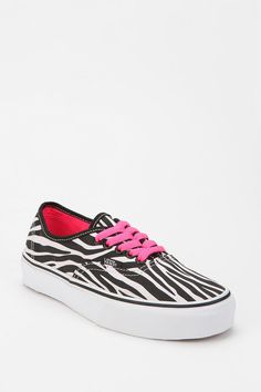 Vans Authentic Zebra Print Canvas Sneaker  #UrbanOutfitters