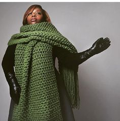 The lenny kravitz scarf-Hand Crochet Mens' by IfKnotForYourGrace