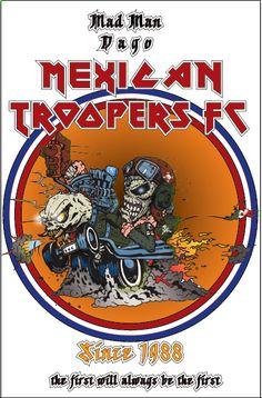 Eddie by me! Iron Maiden Posters, Rat Fink, Irons, Venom, Mad Men, Rock Music, Metallica, Rock N Roll, Heavy Metal