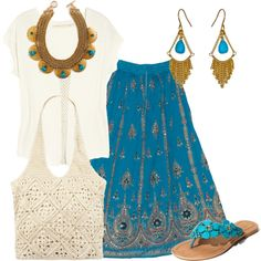 """Estilo Hippie Chic"" by outfits-de-moda2 on Polyvore"