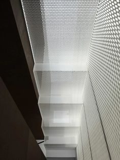 IS / Yo Yamagata Architects - perforated metal mesh Lets in light Yamagata, Metal Mesh, Metal Roof, Architecture Details, Interior Architecture, Staircase Architecture, Installation Architecture, Building Architecture, Design Oriental