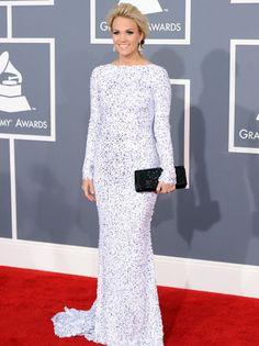 Carrie Underwood  Gomez-Garcia Gown  Grammy Awards 2012 Red Carpet Arrivals