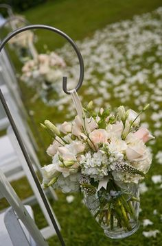 lovely What about using small outdoor light fixtures as the vase?