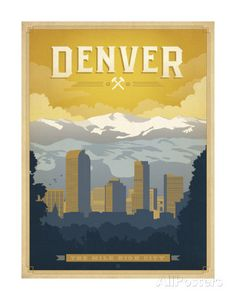 Denver: The Mile High City Prints by Anderson Design Group at AllPosters.com