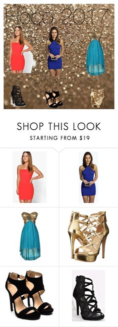 """""""Hoco 2017"""" by jociebean ❤ liked on Polyvore featuring Boohoo, GUESS and Melissa Odabash"""