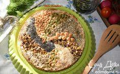 Пирог с курицей под ореховой корочкой   Кулинарные рецепты от «Едим дома!»