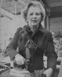 The Iron Lady ironing. Popular People, Good People, Famous People, Amazing People, The Iron Lady, Rachel Carson, Margaret Thatcher, British Prime Ministers, First Down