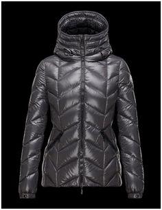 blouson femme moncler Badete doudoune à capuche veste courte gri Warm Coat,  Outerwear Women, 3ea9efd8c5c