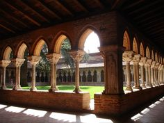 The Cloisters at Moissac Abbey.  France. 2006.