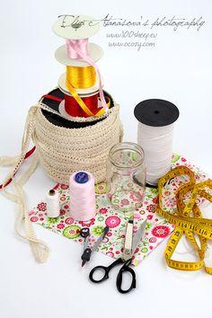 Textile jar cups - DIY
