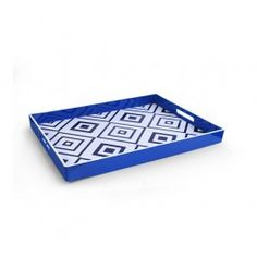 Accents by Jay Geometric White with Blue Tray