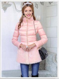 Morpheus Boutique  - Pink Zipper Hair Down Long Sleeve Coat