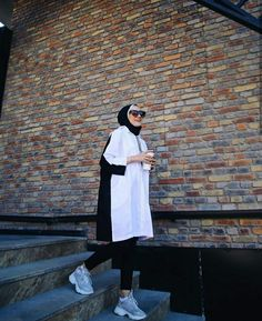 Modest Outfits, Modest Fashion, Fashion Outfits, Womens Fashion, Casual Hijab Outfit, Casual Outfits, Hijab Trends, Street Hijab Fashion, Gym Workout For Beginners