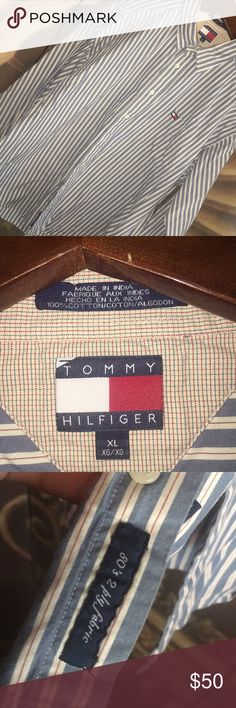 Tommy Hilfiger 80's 2 ply fabric shirt Tommy Hilfiger 80's 2 ply fabric shirt Tommy Hilfiger Shirts Dress Shirts