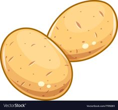 Couple potatoes vector image on Potato Drawing, Vegetable Drawing, Shadow Drawing, Cute Games, Art Challenge, Fall Harvest, Stone Painting, Vector Art, Bunt