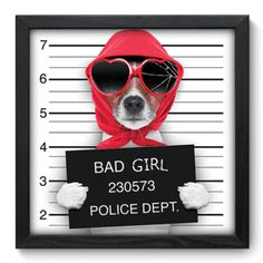 Quadro Decorativo - Bad Girl - 046qds
