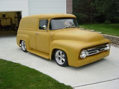 1956 ford f100 panel truck hot rod pictures this is the truck I want and the color is pretty sweet too! want the same color for my motorcycle tins.