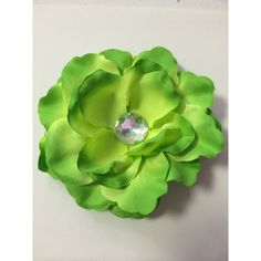 Lime Green Embellished Rose Bridal Flower Clip - ($4.75) ❤ liked on Polyvore featuring accessories, hair accessories, lime green hair accessories, bridal flower hair accessories, bridal hair accessories, rose hair accessories and flower hair accessories