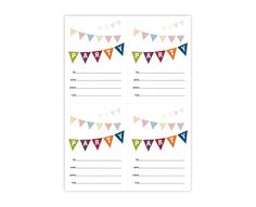Printable Party Invite  Cute Colorful FillIn Party Invitation