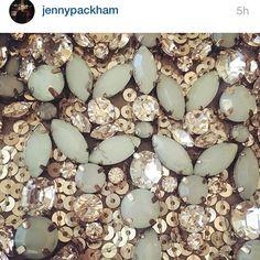Regram @jennypackham #embellishment #embroidery #jewels #sequins #textiles #texture #fashion #designer #detail #pretty #silver