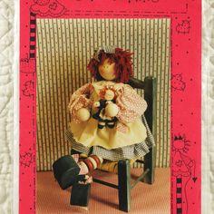 Cloth Doll Pattern, Friends 302 Crafts, Sassie Annie, Yarn Hair, 1993 Uncut, 18 Inch, 2-oz by DartingDogCrafts on Etsy