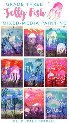 Jellyfish art project for boys and girls. Super easy drawing & painting…