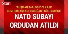 NATO: Erdoğan fotoğrafını seçen subay ordudan atıldı: NATO, #CumhurbaşkanıErdoğan'ın fotoğrafını seçen subayın ordudan atıldığını açıkladı. Atatürk fotoğrafını ise görevli teknisyenin seçtiği belirtildi.