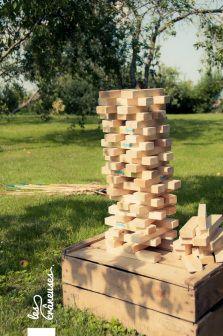 Mariage champêtre en extérieur. Jeux. Games. ©Les crâneuses, wedding planner & designer.