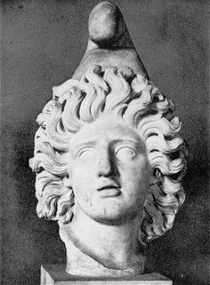 The Mithraeum of the Animals at Ostia antica was excavated by C.L. Visconti in 1867. Near the altar a head of Mithras with Phrygian cap was found (h. 0.45). In the cap are holes for metal rays, so Mithras is depicted as Sol Invictus. Furthermore a head of Sol-Helios was found, with seven holes for rays.  The shrine was built in the second half of the second century AD.