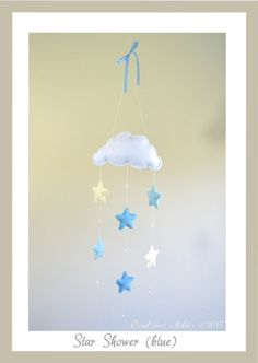 Star Shower Mobile by CloudStreetMobiles on Etsy