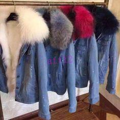 Из искусственной норки мех с капюшоном мех подкладка женские сгустить парка куртка короткое пальто джинсовая   Одежда, обувь и аксессуары, Одежда для женщин, Пальто и куртки   eBay!