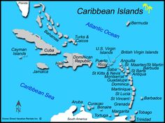 List All Caribbean Islands | Caribbean Islands Map