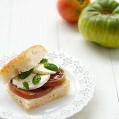 Heirloom Tomato Caprese Sandwiches - Recipes from: Foodily