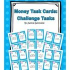 This set of task cards is great for your first and second graders who have already mastered basic money counting skills.  Engage them in money task...