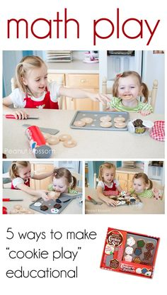 """{math play} five ways to make """"cookie play"""" educational"""