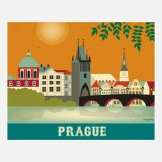 Prague Print from Karen Young, Owner and Artist, Loose Petals, $20, now featured on Fab.