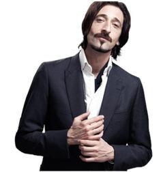 Adrien Brody with the elegantly trimmed goatee