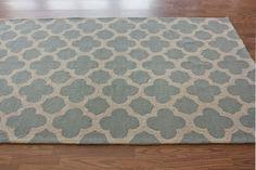 Homespun Neid Trellis Blue Rug | Contemporary Rugs