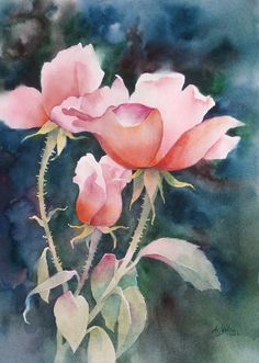 Galleries of Available Paintings - Alexis Lavine: Luminous Watercolors & Inspiring Art Instruction Peony Painting, Watercolor Paintings, Watercolours, Watercolor Rose, Watercolor Cards, Art Floral, Art Aquarelle, Watercolor Projects, Watercolor Pictures